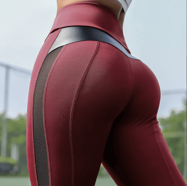 Leather Accent Shaping Leggings