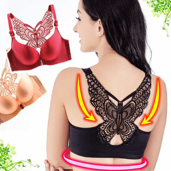 Handmade Butterfly Front Closure Wireless Bra