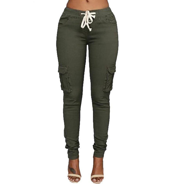 Army green Drawstring Pants