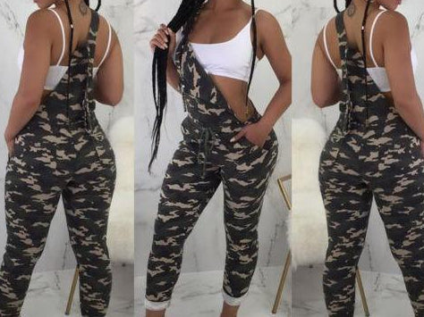 Camouflage Strap Dungarees