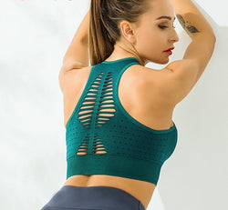 Ribbed Back Sports Top