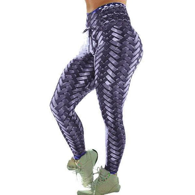 Carbon Weave Print Leggings