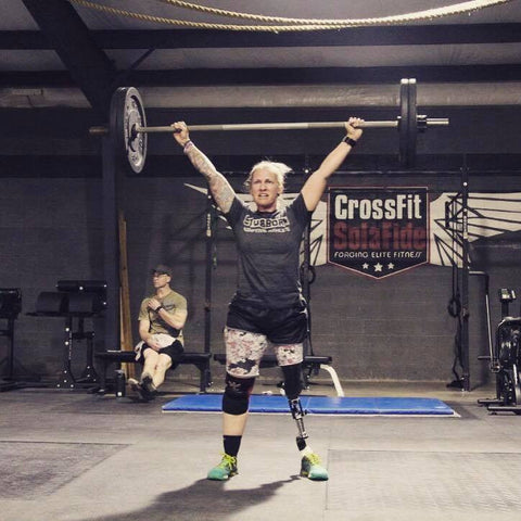 Sabrina with a strong overhead snatch