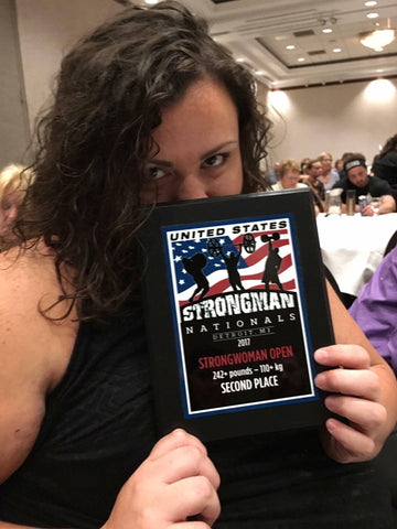 Relishing in her 2nd place finish at United States Strongman Nationals 2017
