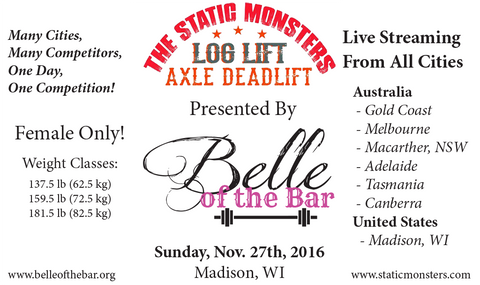 Static Monsters and Belle of the Bar event flyer
