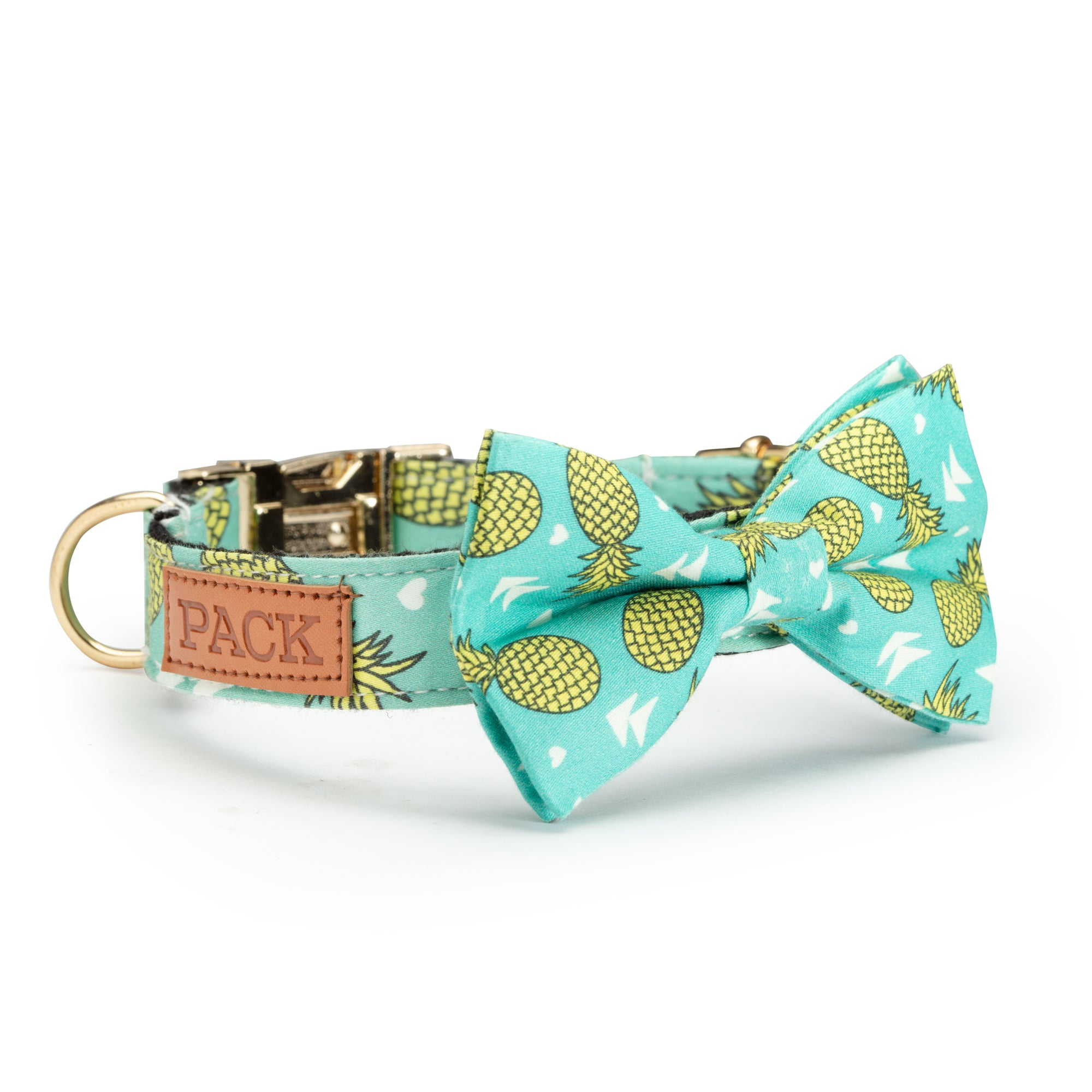 Pineapple Leash + Bowtie Collar + Reversible Harness
