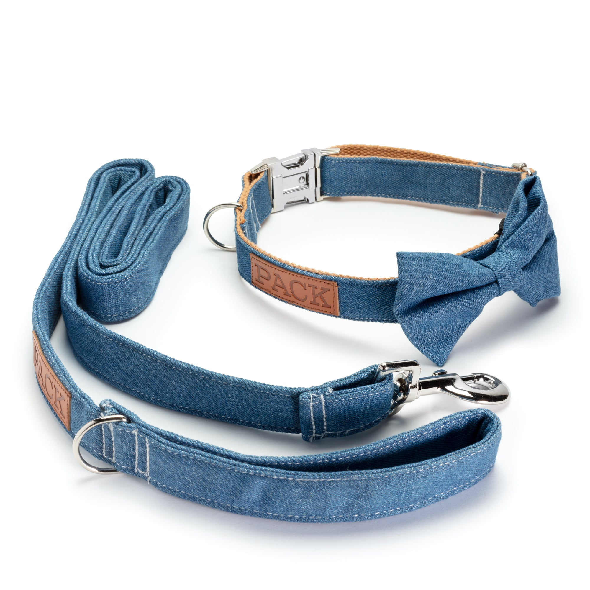 Denim Leash + Collar