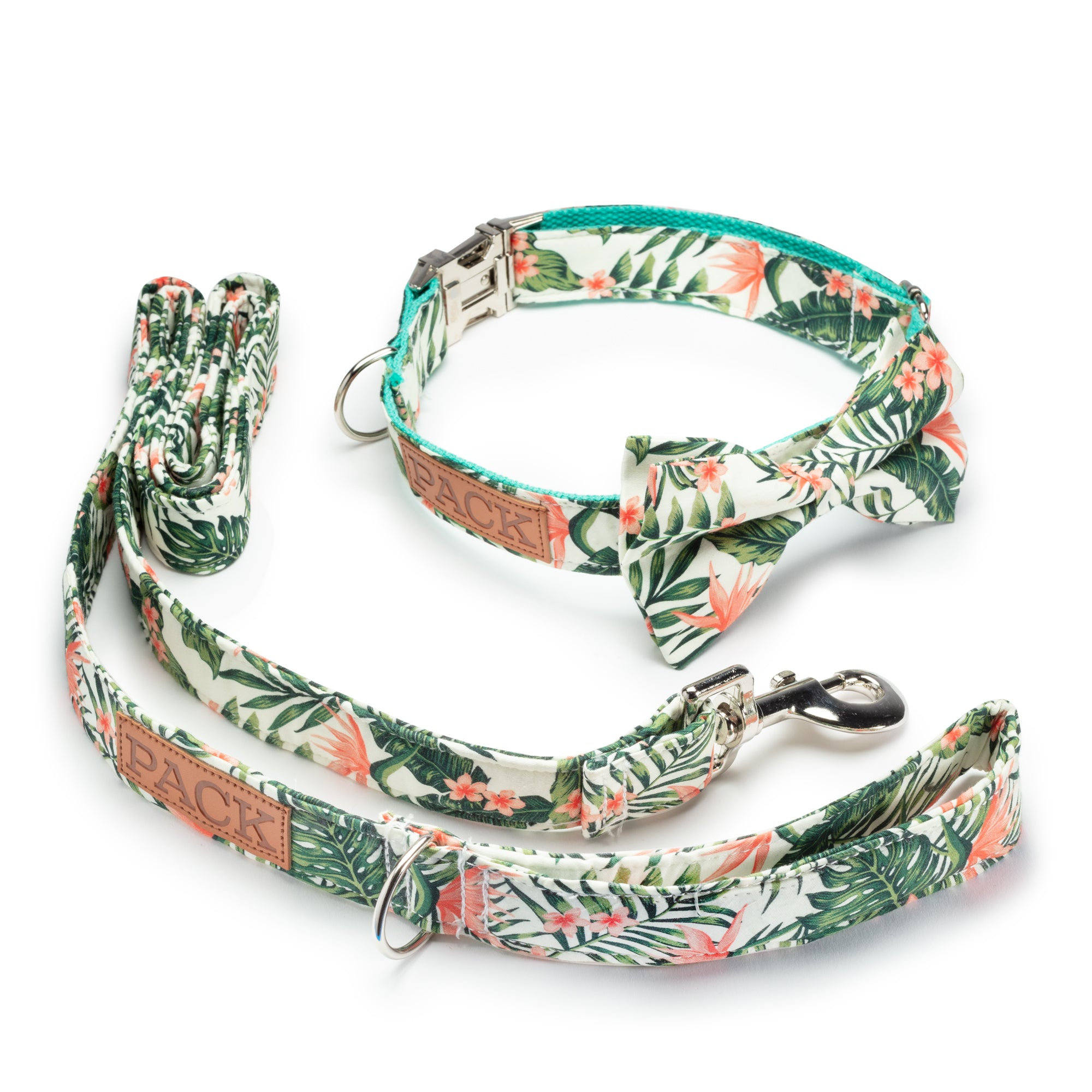 Tropical Paradise Leash + Bowtie Collar