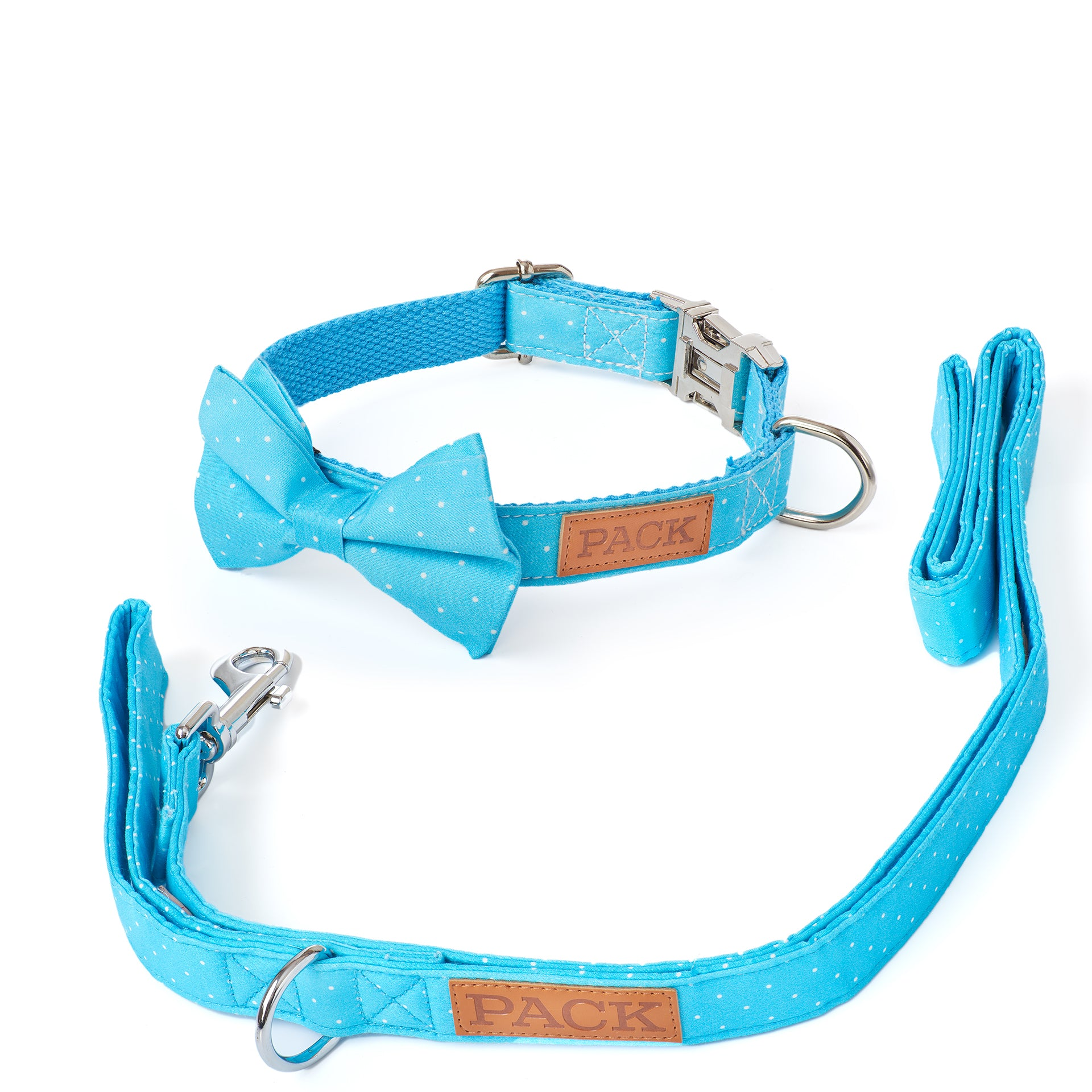 Polka Leash + Bowtie Collar