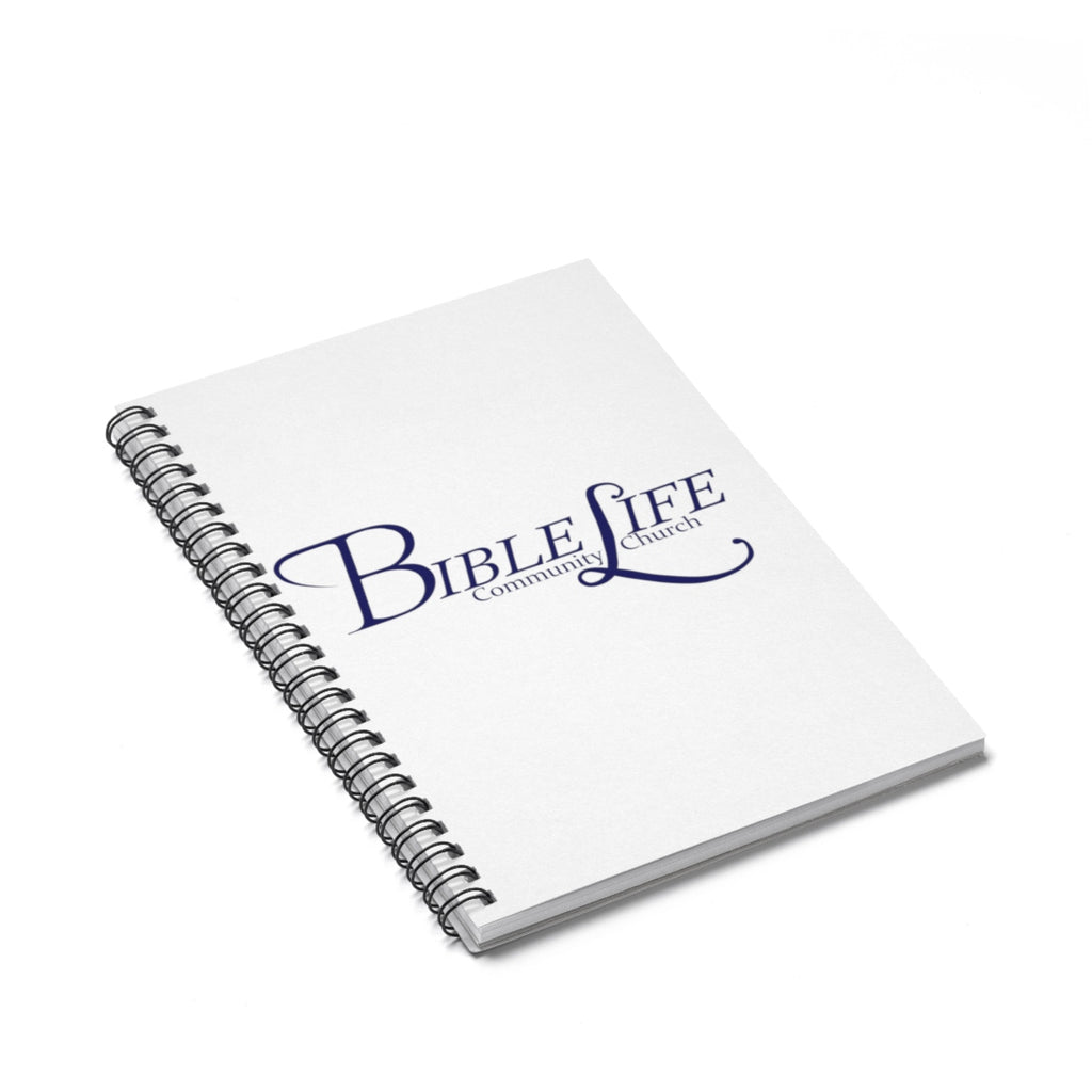 White Bible Life Spiral Notebook