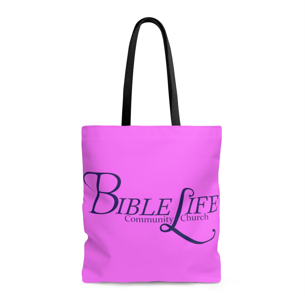 Purple Bible Life Tote Bag