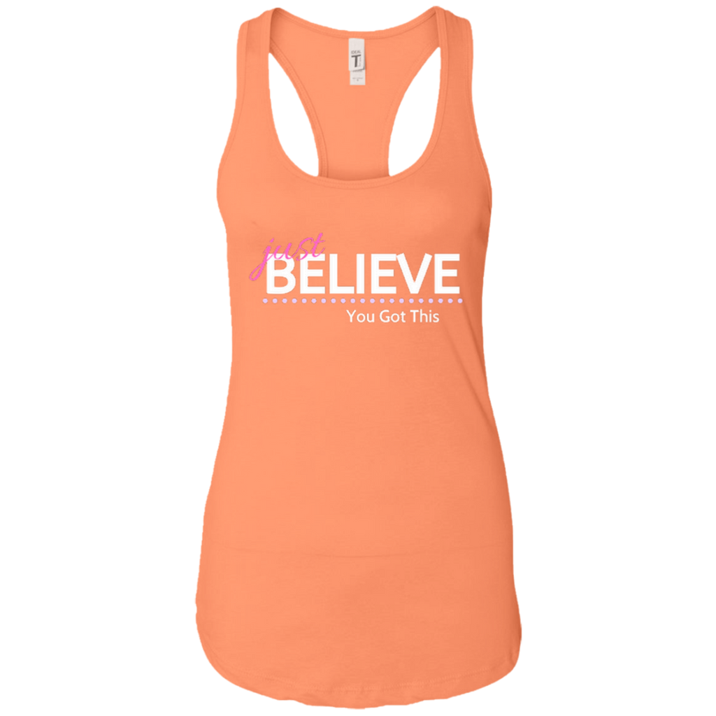 Just Believe Racerback Tank