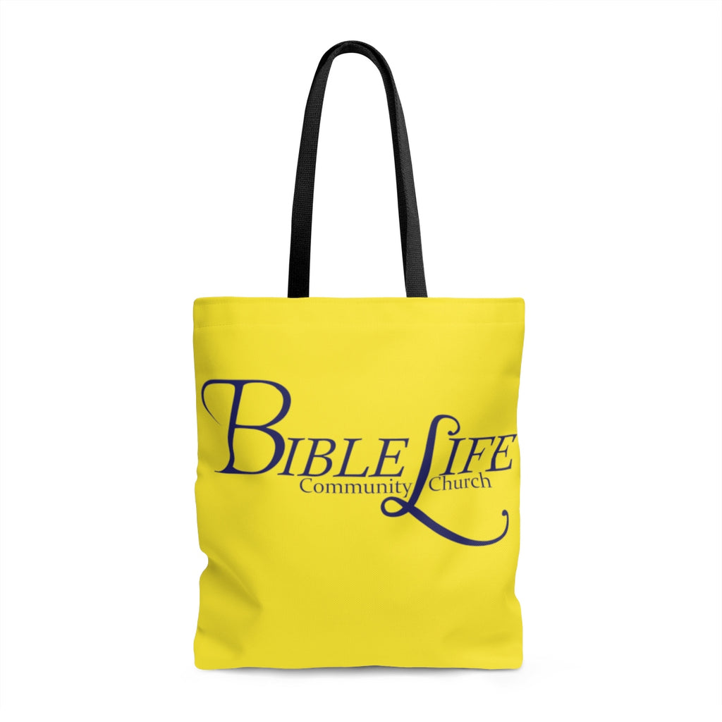 Yellow Bible Life Tote Bag