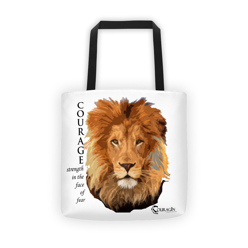 Courage of the Lion Tote Bag