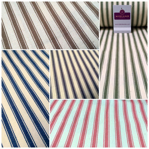 Canvas Power Loom 8mm Ticking Stripe Fabric