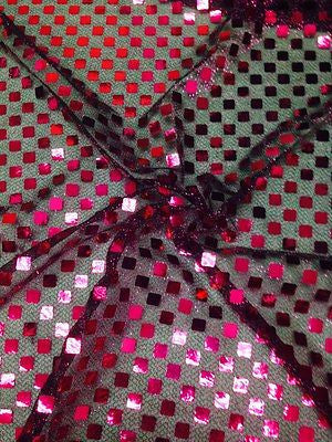 "SQUARE SEQUIN LUREX JERSEY DISCO DANCE FANCY DRESS FABRIC MATERIAL 38""  M67 Mtex - Midland Textiles & Fabric"