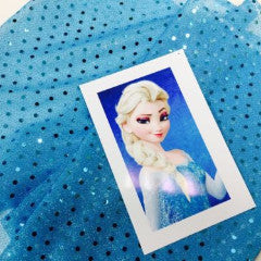 FROZEN ELSA TURQUOISE SEQUIN DISCO/DANCE LUREX FANCY DRESS CRAFT FABRIC Per Mtr - Midland Textiles & Fabric