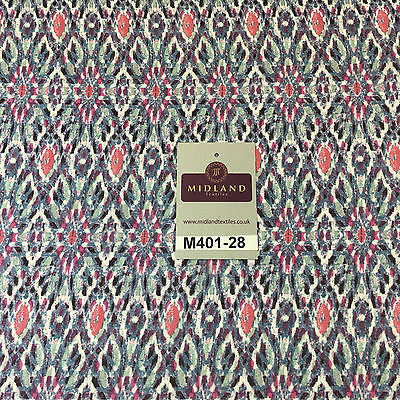 "Artistic Mayflower High Street Smooth Chiffon Printed fabric 58"" M401-28 Mtex - Midland Textiles & Fabric"