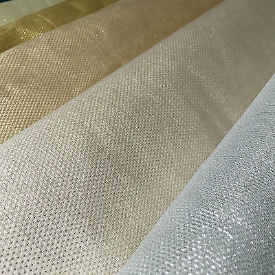 "Indian Metallic Shimmer Lame Banarsi Faux Silk Jacquard Brocade 44"" Wide M619 - Midland Textiles & Fabric"