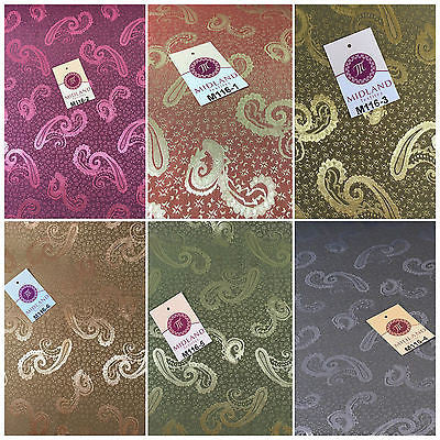 "Two Toned Paisley Satin Jacquard Dress Fabric 58"" Wide M116 Mtex"