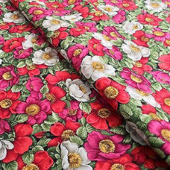 "44"" Floral Print 100% Cotton Fabric Craft Renaissance Patchwork M302 Mtex - Midland Textiles & Fabric"