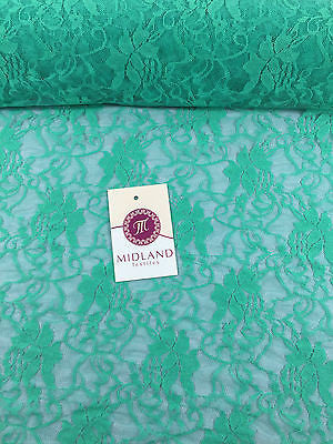"Stretch Floral Lace Semi Transparent Dress Fabric 55"" Wide M186-19 Mtex - Midland Textiles & Fabric"