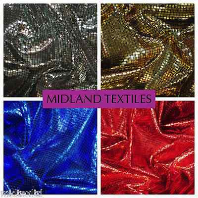 "SHIMMER LAME FOIL FABRIC ON BLACK JERCEY STRETCHY WITH CHECK EFFECT 60"" M6 - Midland Textiles & Fabric"