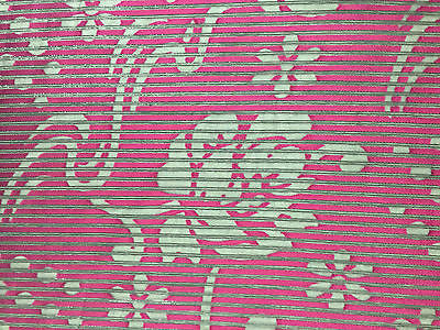 "Pin striped Floral Burnout Georgette Chiffon fabric 45"" M145-36-37 Mtex - Midland Textiles & Fabric"