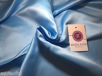 Peau-De-Soie 100% Polyester medium  Matt Satin wedding dresses fabric M601 - Midland Textiles & Fabric
