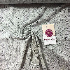 "3D Floral Soft Lace Mesh Crochet Semi Transparent Dress Fabric 58"" Wide Mtex - Midland Textiles & Fabric"