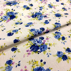 "100% Cotton Printed Fabric 58"" Wide- Floral - Per Metre- M123 Mtex - Midland Textiles & Fabric"
