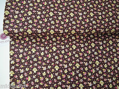 "Mushroom Print 100% Cotton Poplin Fabric, 45"" Wide Craft Cotton M27 - Midland Textiles & Fabric"