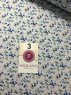 "Small Ditsy Floral poly cotton print dress craft fabric 44"" Wide M348 Mtex - Midland Textiles & Fabric"