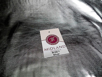 "Metallic Shiny Stretchy foil Polyester Nylon Spandex Mix 58"" Wide M100 Mtex - Midland Textiles & Fabric"