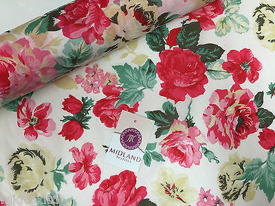 Bold Floral 100% Cotton Lawn Dress fabric 58inch wide- Per metre -M271 Mtex - Midland Textiles & Fabric