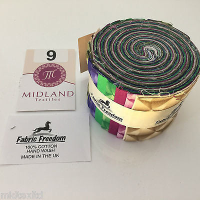 "Mini Jelly Rolls 20 strippers 100% cotton 2.5"" Width by 42"" length M551 Mtex - Midland Textiles & Fabric"