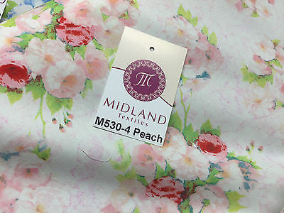 "Vintage floral shabby Chic Printed Fabric 100% Cotton Poplin 44"" Wide M530 Mtex - Midland Textiles & Fabric"