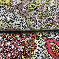 "Traditional Vintage Paisley floral 100% Cotton Poplin 58"" Wide M537 Mtex"