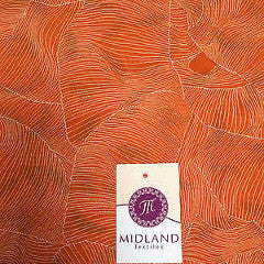 "Orange and white pleat effect patterned dress fabric 58"" M401-14 Mtex - Midland Textiles & Fabric"