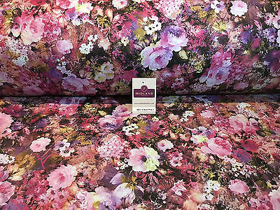 "Floral Printed Scuba Jersey stretch dress fabric 58"" wide M671 Mtex - Midland Textiles & Fabric"