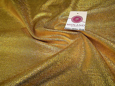 "Metallic Shiny Tissue Lame Craft and Dress Fabric 55"" wide M101 Mtex - Midland Textiles & Fabric"