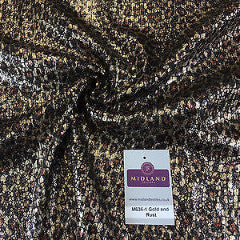 "Animal Print Sequin One way stretch dress fabric 55"" Wide M636 Mtex - Midland Textiles & Fabric"