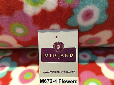 Anti pil polar Printed fleece ideal for throws blankets 150cm wide M672 Mtex - Midland Textiles & Fabric