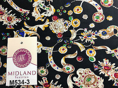 "Royal Jewel Printed 100% Cotton Poplin fabric 58"" Wide M534 Mtex - Midland Textiles & Fabric"