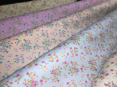 "Vintage Ditsy Floral Printed Fabric 100% Cotton Poplin 44"" Wide M532 Mtex - Midland Textiles & Fabric"