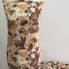 Beige And Brown Leaf Print  Crepe Fabric Dressmaking Fabric M145-8 Mtex - Midland Textiles & Fabric