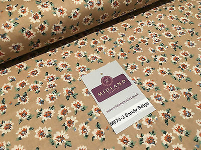 "Floral vintage Ditsy 100% Cotton Poplin Printed Craft dress Fabric 58"" M674 - Midland Textiles & Fabric"