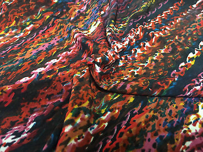 "Multi Coloured Striped printed ity Jersey Lycra Stretch Fabric 58"" M167 Mtex - Midland Textiles & Fabric"