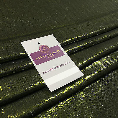 "Shiny Metallic Corduroy Lame 1 way stretch Dress Fabric 40"" wide M699 Mtex - Midland Textiles & Fabric"