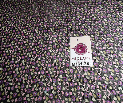 "Floral ditsy flower printed crinkle chiffon fabric 44"" wide M161-28 Mtex - Midland Textiles & Fabric"